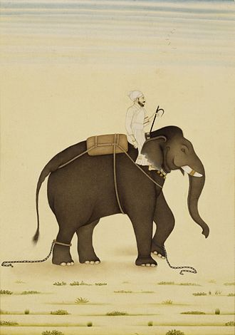 Alivardi Khan - A Mahout and its rider in service of the Mughal Emperor Muhammad Shah.