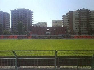 Flamurtari Vlorë - Image: Main Stand Flamurtari Stadium