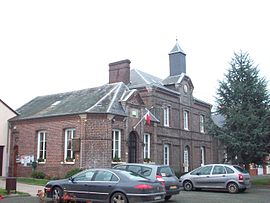 The town hall in Beauvoir-en-Lyons