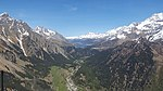 Malojapass as seen from a helicopter above Val Bregaglia.jpg