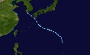 1975 Pacific typhoon season - Image: Mamie 1975 track