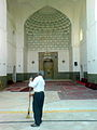 Man sweep front of iwan of Kashmar grand mosque.JPG