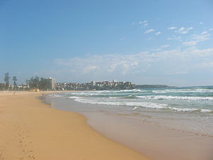 Manly Beach - Image: Manly Beach and water