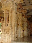 Mantapa pillars in Ranganatha Temple at Rangasthala, Chikkaballapur district