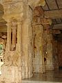 Mantapa pillars in Ranganatha Temple at Rangasthala, Chikkaballapur district.jpg