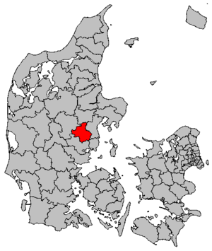 Skanderborg Municipality - Location of Skanderborg municipality