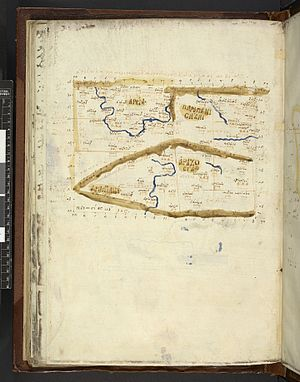 Paropamisadae - Image: Map after Ptolemy's Geographia (Burney MS 111, f.92v)