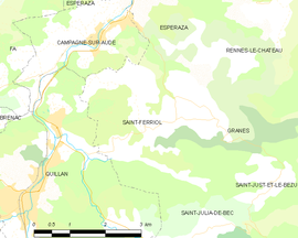 Mapa obce Saint-Ferriol
