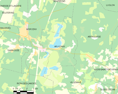 Map commune FR insee code 40009.png