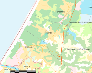 Map commune FR insee code 40209.png