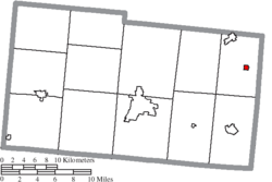 Location of Woodstock in Champaign County