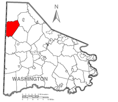 Map of Jefferson Township, Washington County, Pennsylvania Highlighted.png
