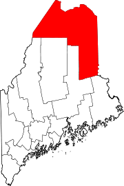 Map of Maine highlighting Aroostook County.svg