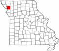 Map of Missouri highlighting Andrew County.png