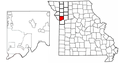 Map of Missouri highlighting Clay County.png
