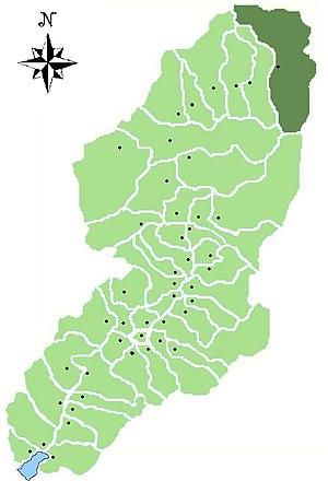 Ponte di Legno - Image: Map of comune of Ponte di Legno in Val Camonica (LG)