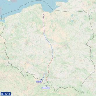 National road 1 (Poland) - Image: Mapa DK1