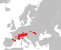 Mapa Marmota marmota.png