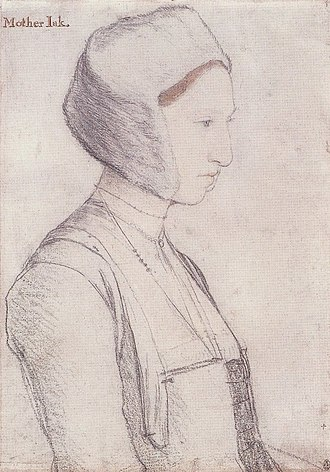 Portrait of a Lady with a Squirrel and a Starling - Image: Margaret Giggs, by Hans Holbein the Younger