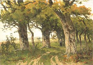 Marie Bilders-van Bosse - Oak lane in summer