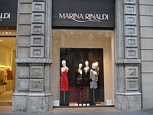 Marina Rinaldi - A Marina Rinaldi store window from July 2011