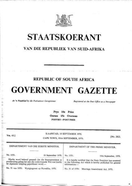 File:Marriage Amendment Act 1970 from Government Gazette.djvu