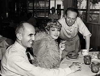 George Marshall (director) - Marshall (left) with Marlene Dietrich and producer Joe Pasternak on the set of the 1939 film Destry Rides Again