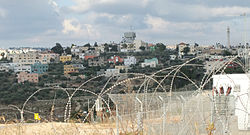 Mas'ha, seen from the illegal Israeli settlement of Elkana