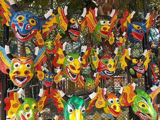 Mascaras diablos danzantes