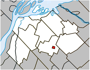 Massueville, Quebec - Image: Massueville Quebec location diagram