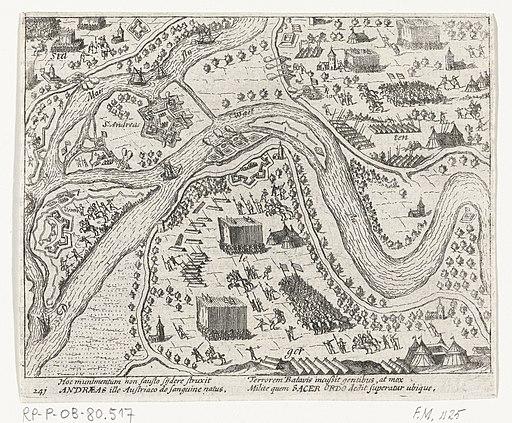 Maurits neem de schans Sint-Andries in, 1600, RP-P-OB-80.517