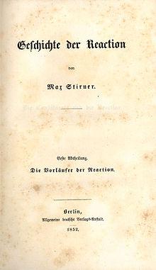 Geschichte der Reaction, 1852.