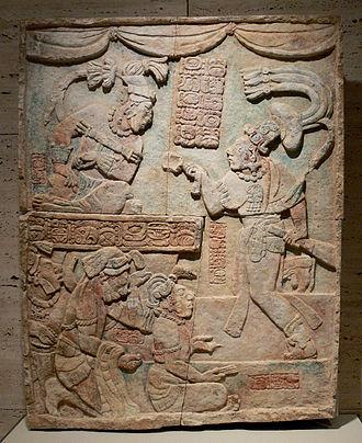 Maya society - Presentation of captives to a Maya ruler