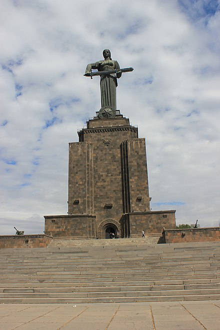 Mother Armenia erected in 1967, replacing the monumental statue of Joseph Stalin