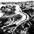 McBride Glacier, tidewater glacier terminus and trimline, August 25, 1988 (GLACIERS 5656).jpg