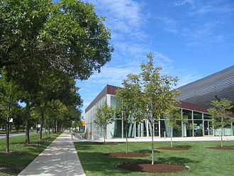 McCormick Tribune Campus Center - McCormick Tribune Campus Center viewed from the southwest