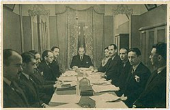 Meeting of the Turkish Language Association, 1933, Dolmabahçe Palace.jpg