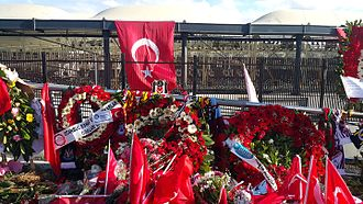 December 2016 Istanbul bombings - Memorial point after December 2016 Istanbul bombings