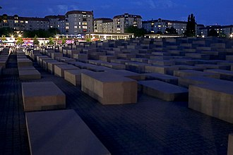 Memorial to the Murdered Jews of Europe - Memorial to the Murdered Jews of Europe at dusk