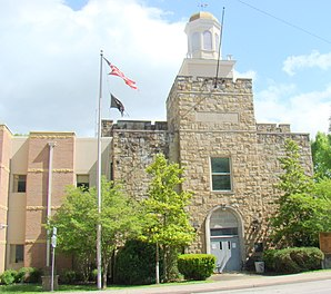 Das Menifee County Courthouse in Frenchburg