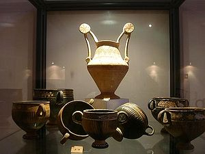 Messapians - Messapian ceramics in Archaeological Museum of Oria, Apulia.