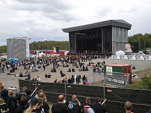 Metaltown Festival - The Black Stage, one of the two main stages, in 2011