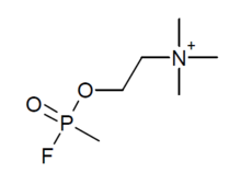 Methylfluorophosphonylcholine structure.png