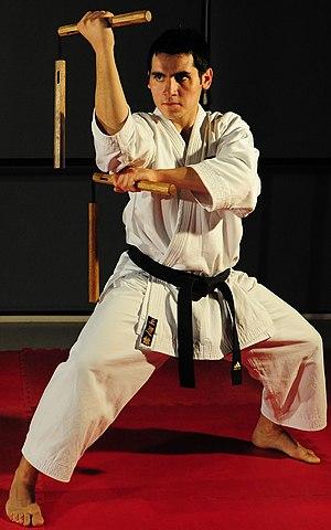 Nunchaku - Nunchaku  martial arts weapons displayed by Liechtenstein martial arts master Metin Kayar