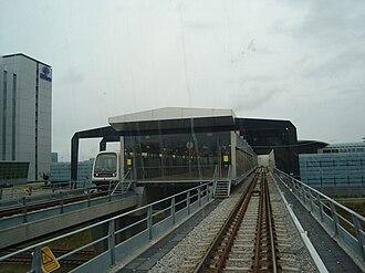 M2 (Copenhagen) - Lufthavnen Station serves Copenhagen Airport