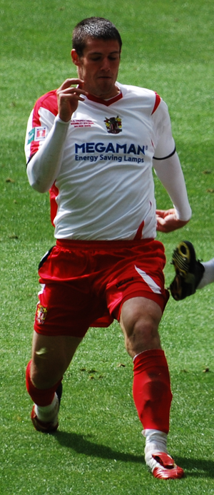 Michael Bostwick - Bostwick playing for Stevenage Borough in the 2009 FA Trophy Final