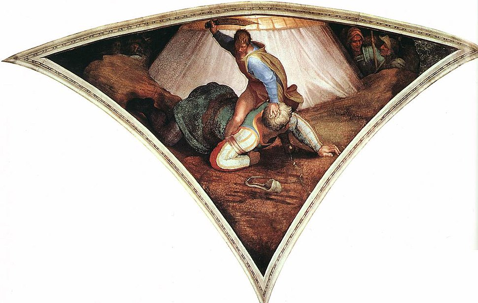 Michelangelo, David and Goliath 01