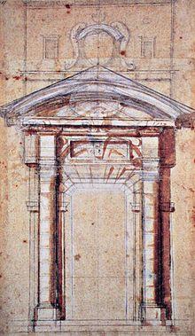 Disegno di studio di Michelangelo