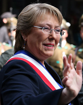 Women in Chile - Michele Bachelet, who served as the first woman President of Chile from 2006 to 2010.