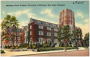 Michigan Union - Image: Michigan Union Building, University of Michigan, Ann Arbor, Michigan (68207)